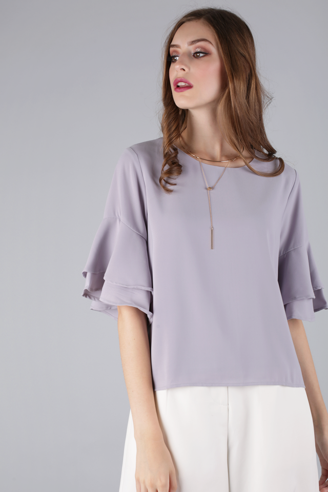 Feyre Ruffles Top (Dusty Lilac)