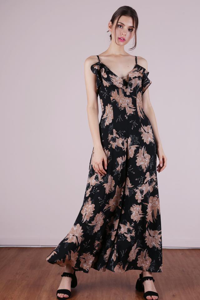Gaia Ruffles Jumpsuit (Florals)