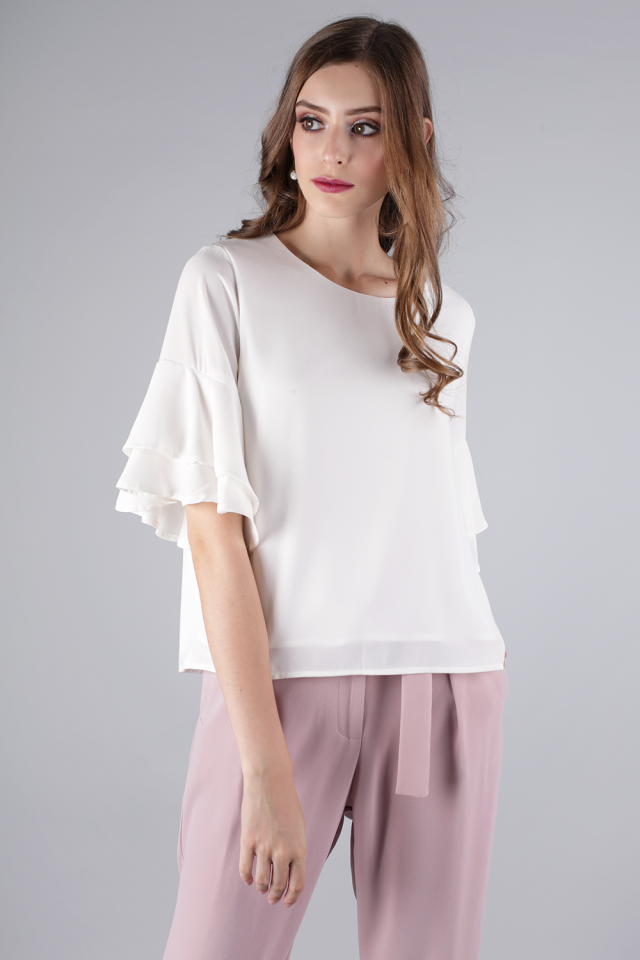 Feyre Ruffles Top (White)