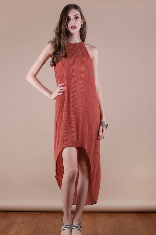 Diya Pleated Dress (Sienna)