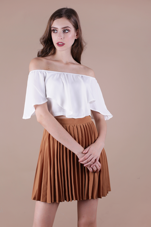 Tyra Off Shoulder Top (White)
