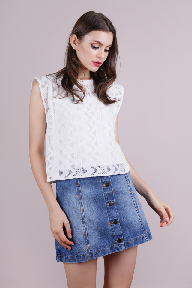 Kimm Lace Top (White)
