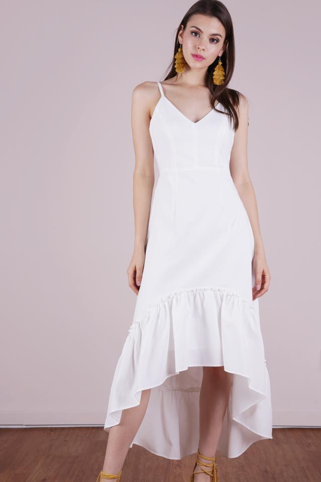 Hampton Tie Back Dress (White)