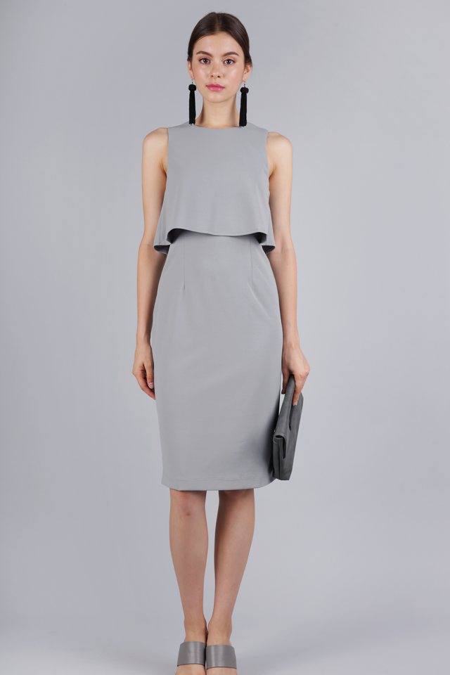 Madelyn Midi Dress (Grey)