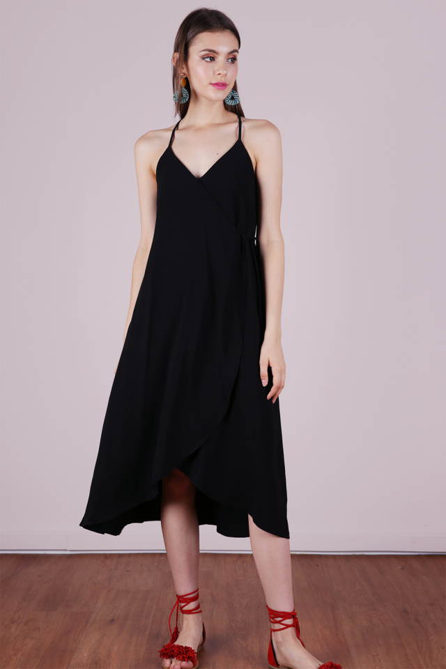 Paddy Resort Wrap Dress (Black)