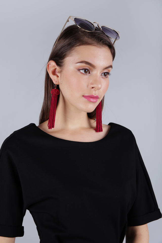 Brea Tassel Earrings (Red)