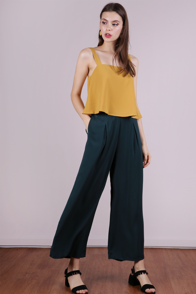 Bondi Flowy Pants (Forest Green)