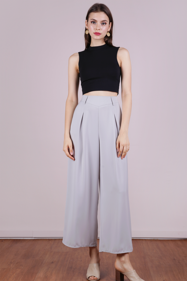Bondi Flowy Pants (Dove Grey)