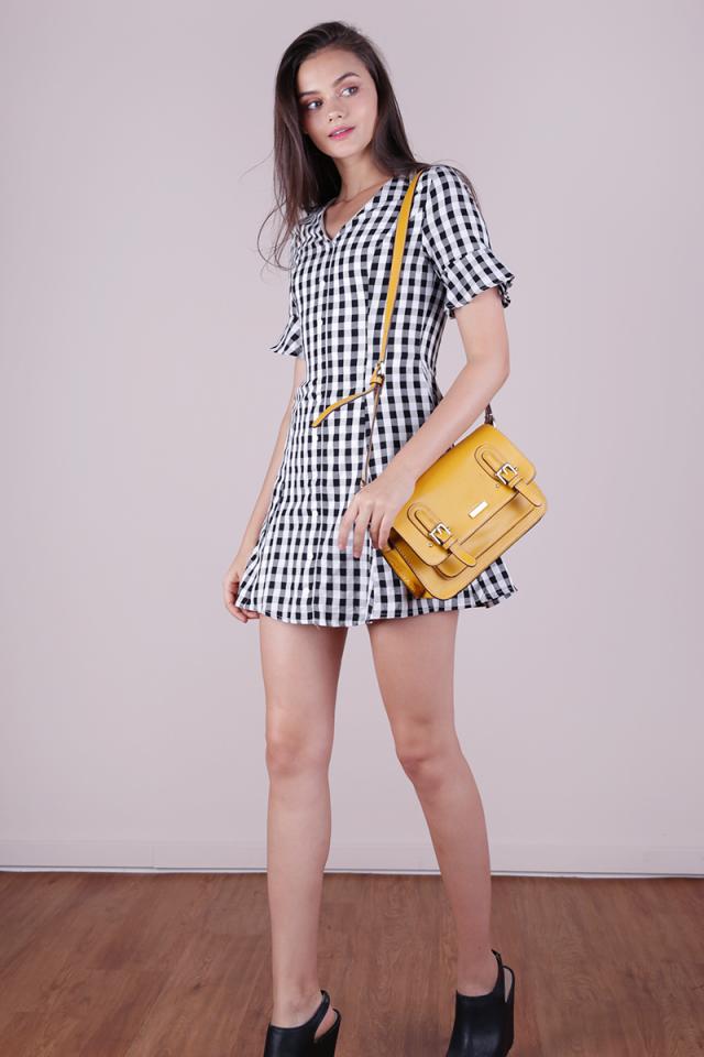 Leila Mini Dress (Gingham)