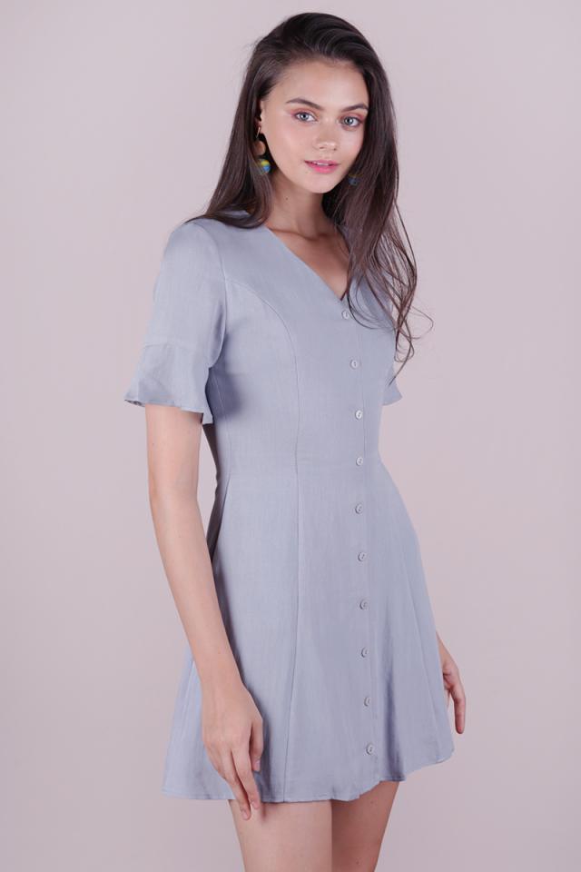 Leila Mini Dress (Grey)