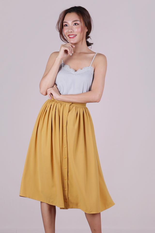 Taylor Midi Skirt (Mustard)