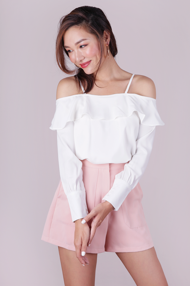 Abella Ruffles Top (White)