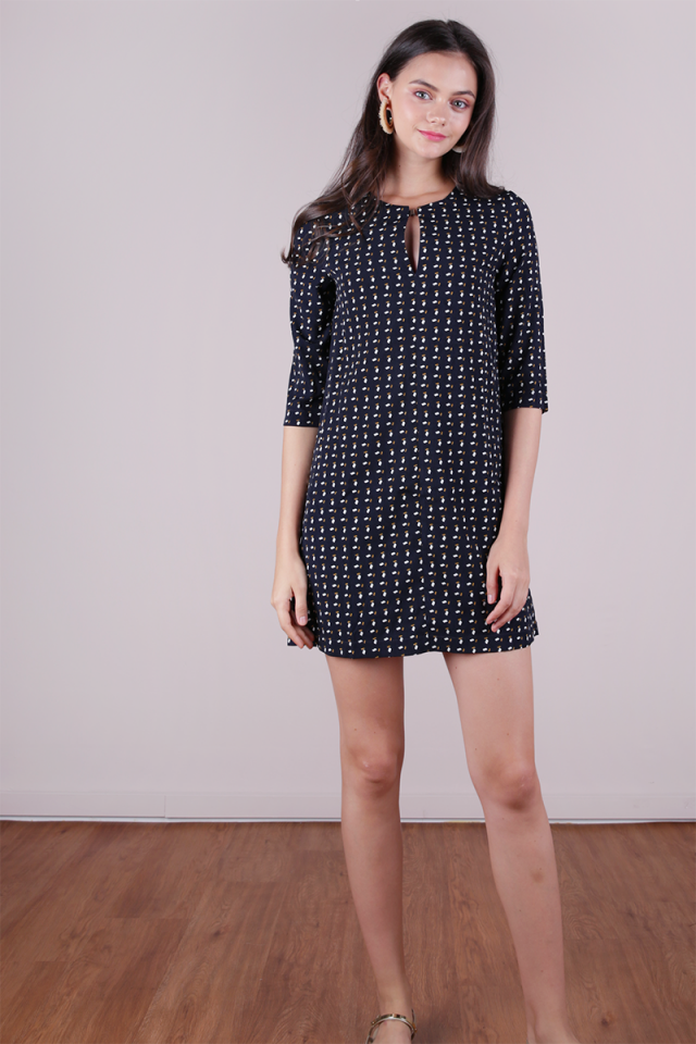 Niko Shift Dress (Navy)