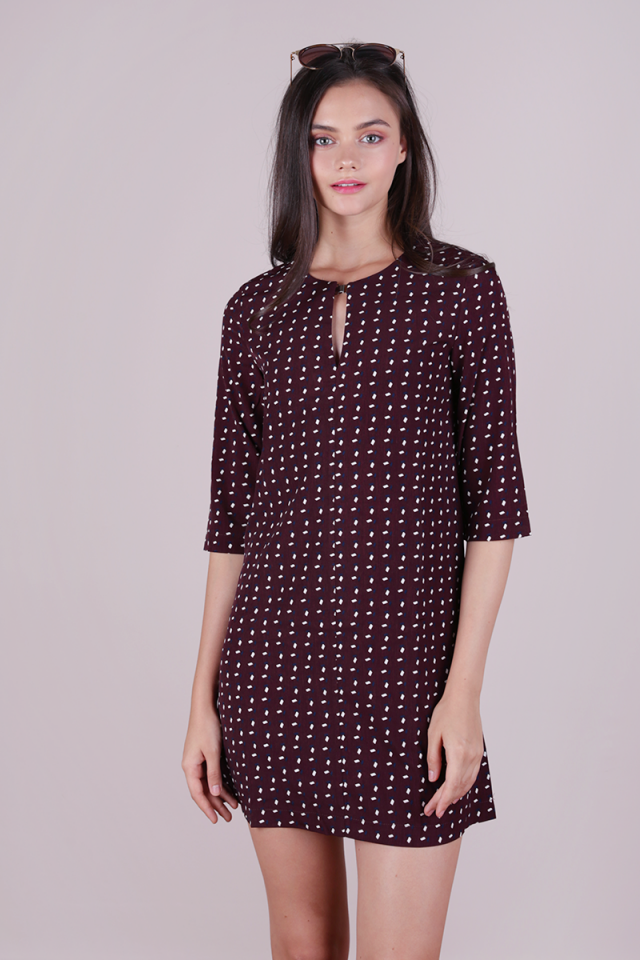 Niko Shift Dress (Plum)