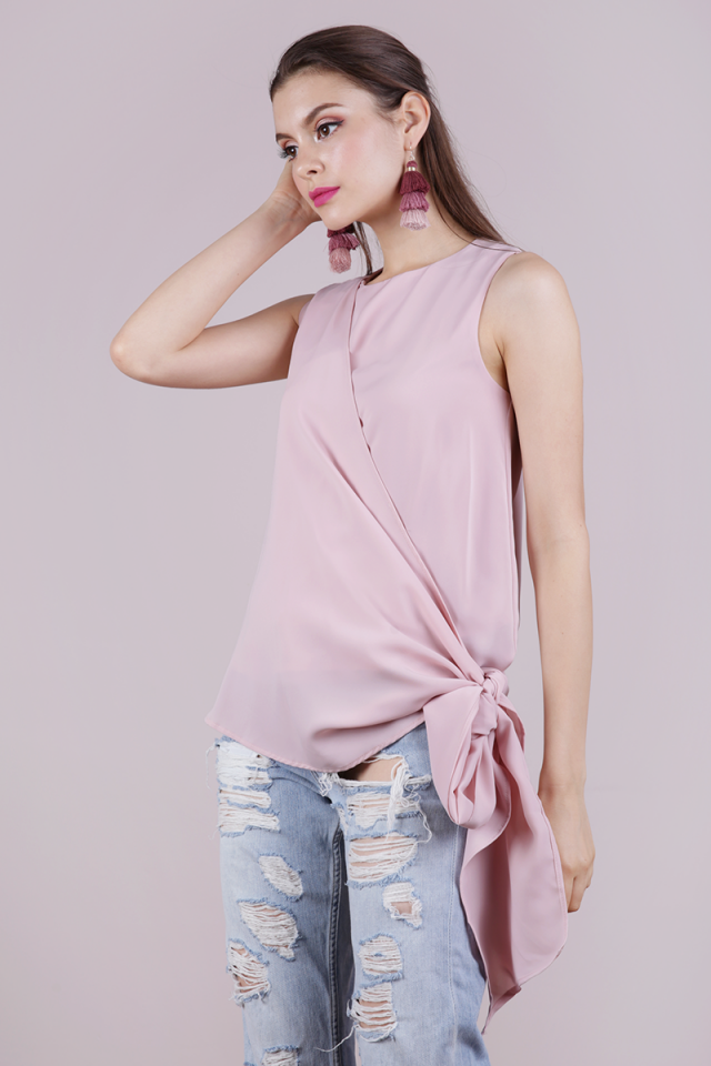 Maisie Tie Side Top (Pale Pink)