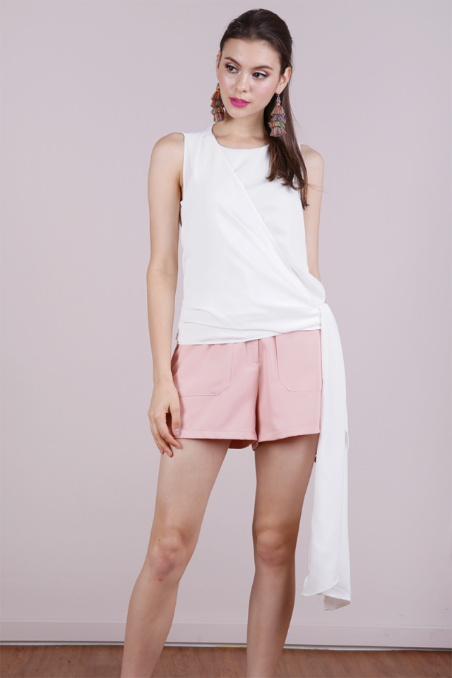 Maisie Tie Side Top (White)