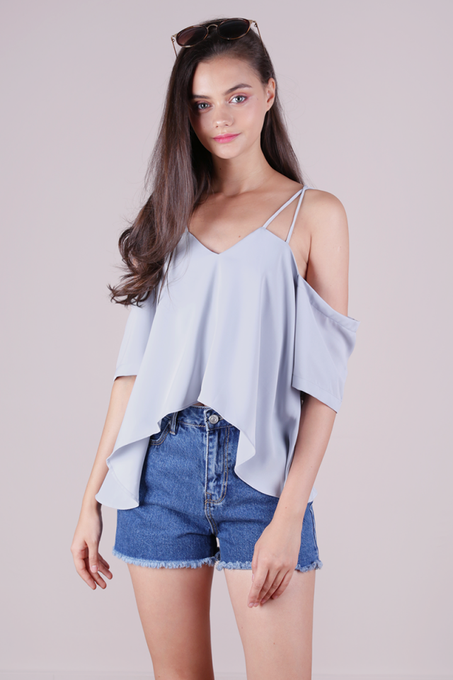 Sonia Double Strap Top (Grey)