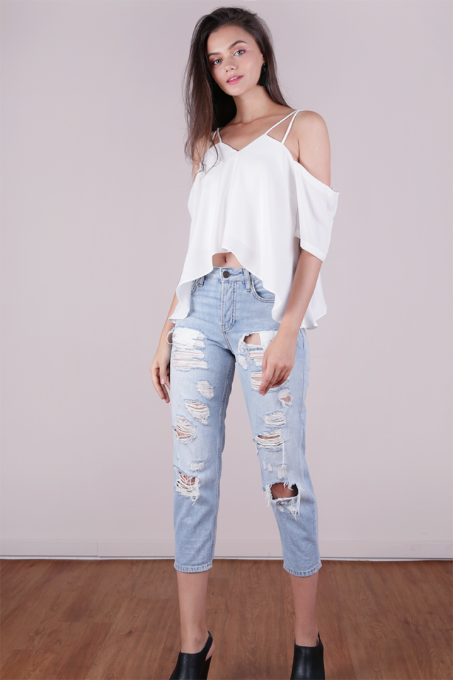 Sonia Double Strap Top (White)