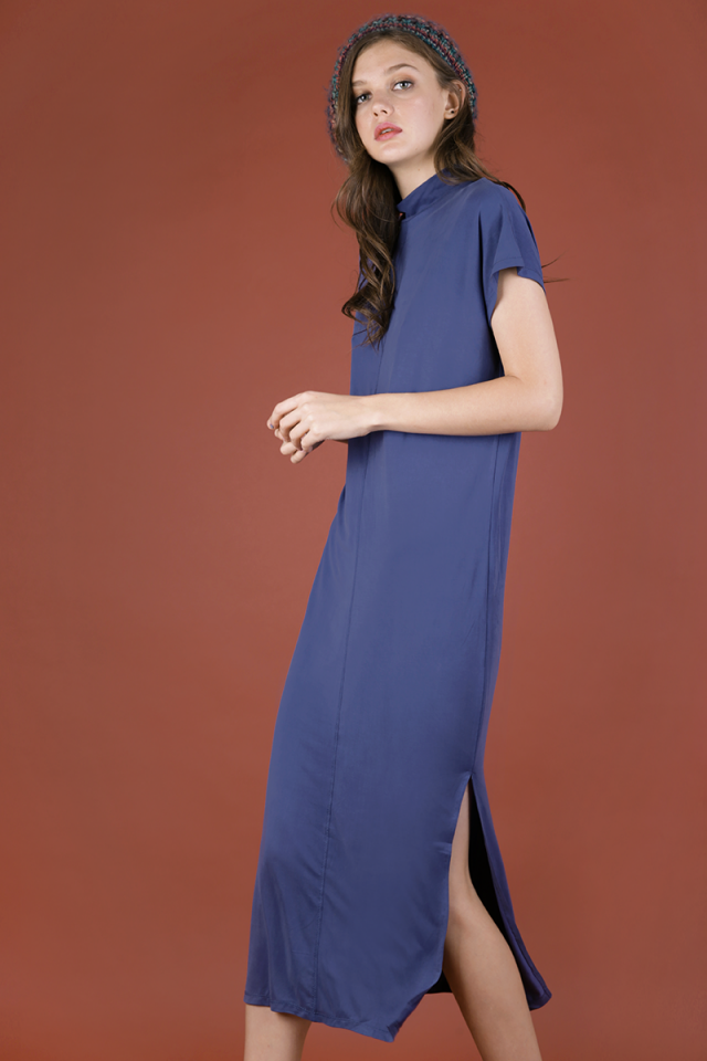 Weekender Basic Dress (Dusty Blue)