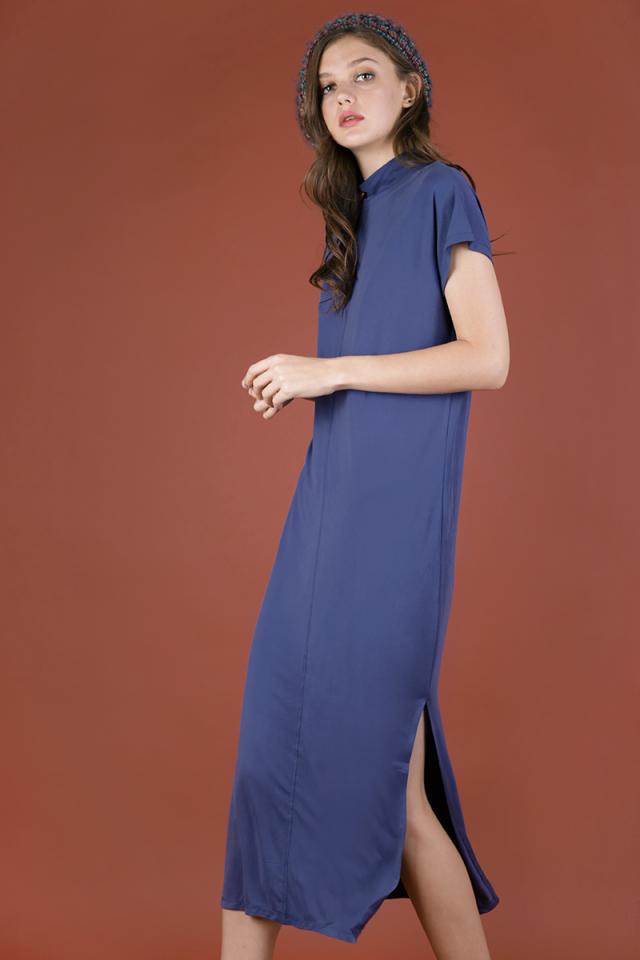 Weekender Basic Dress (Dusty Blue)