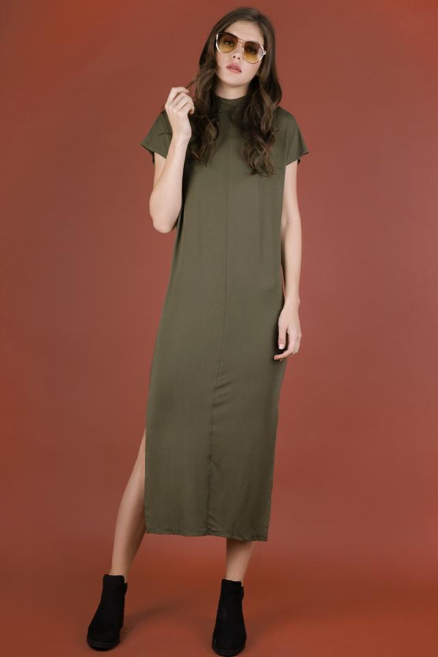 Weekender Basic Dress (Olive)