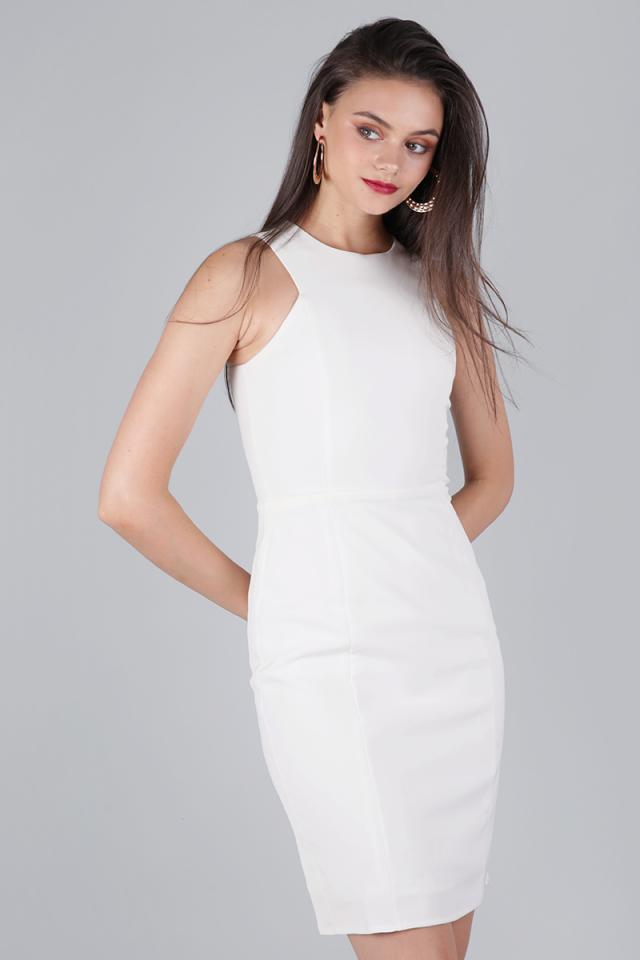 Rynn Sheath Dress (White)