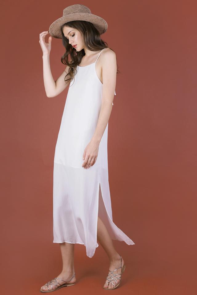 Tayana Midi Dress (White)
