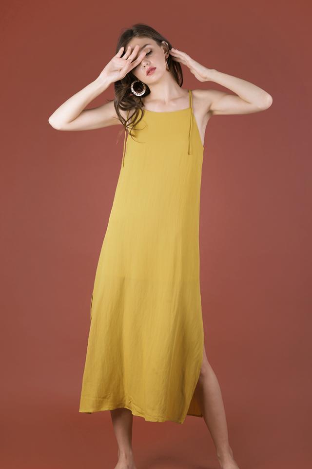 Tayana Midi Dress (Mustard)