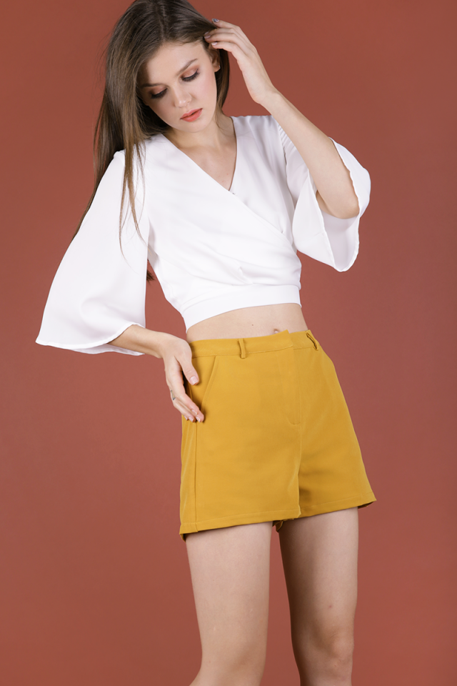Sarni Tailored Shorts (Mustard)