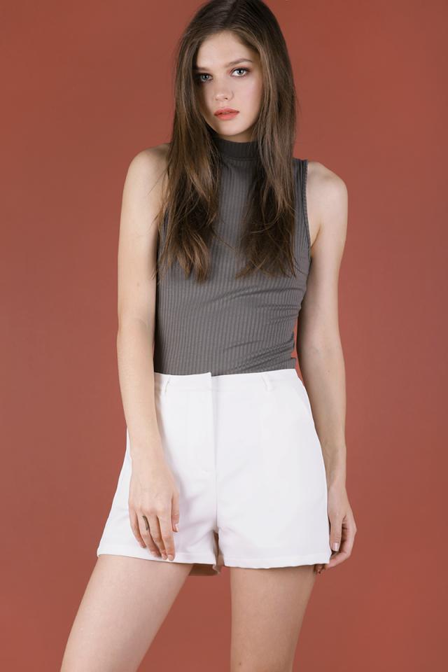 Sarni Tailored Shorts (White)