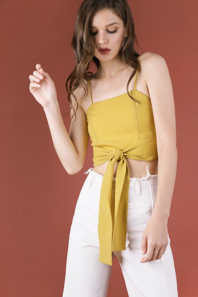 Shayla Tie Front Bralet (Mustard)