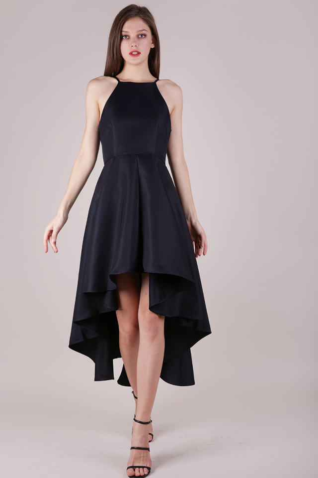 Adora Fishtail Dress (Midnight)