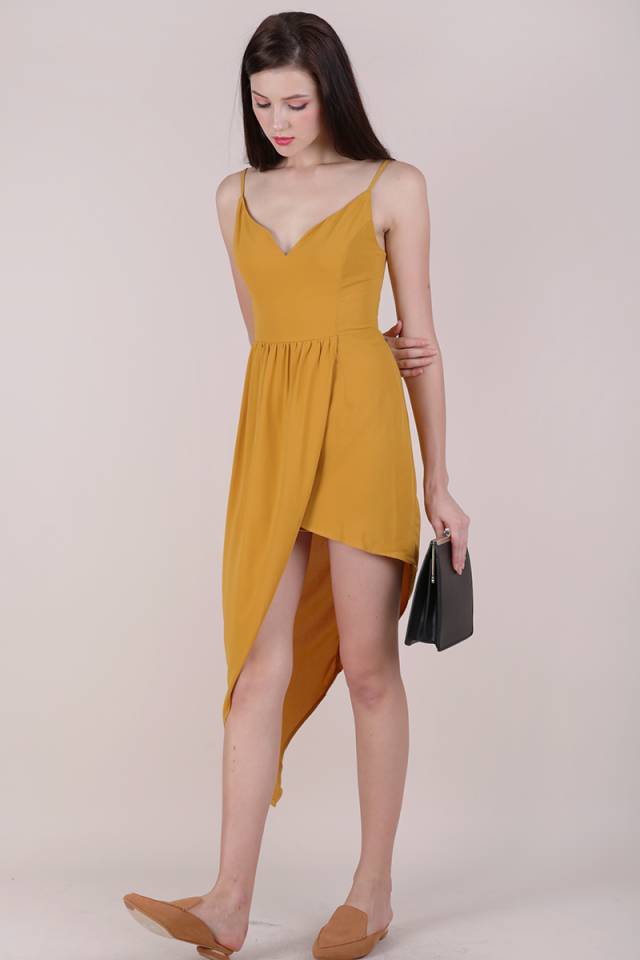 Harlyn Asymmetrical Dress (Mustard)