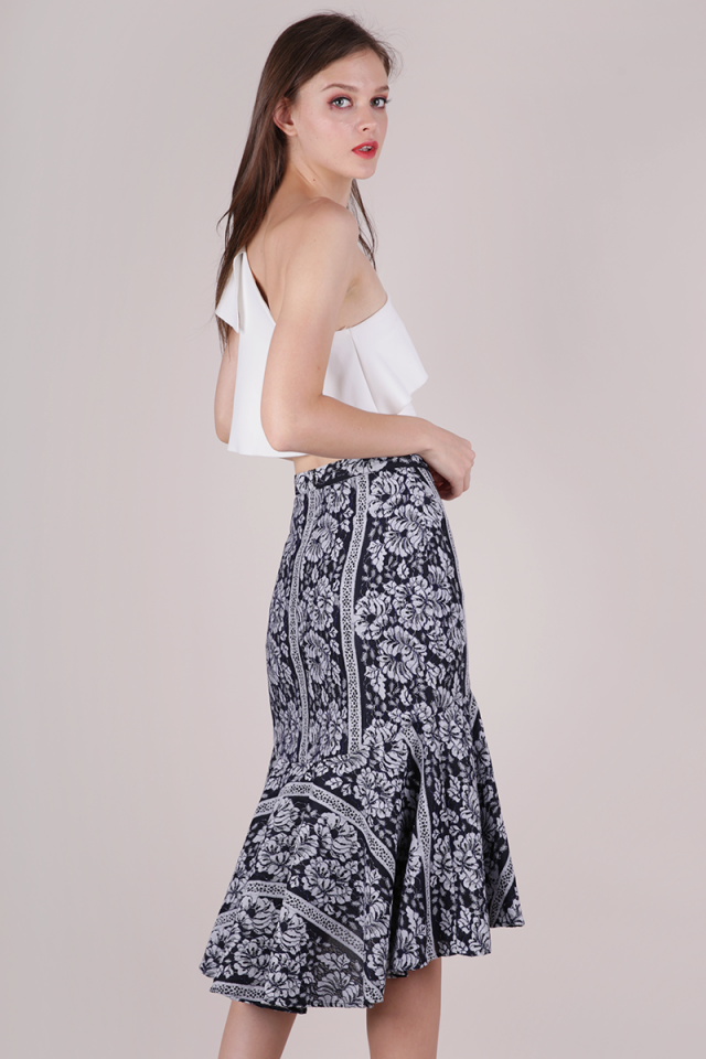 Gabriella Mermaid Skirt (Monochrome)