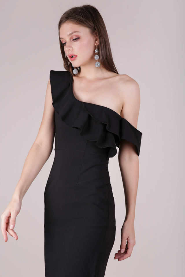 Nars Ruffles Toga Dress (Black)
