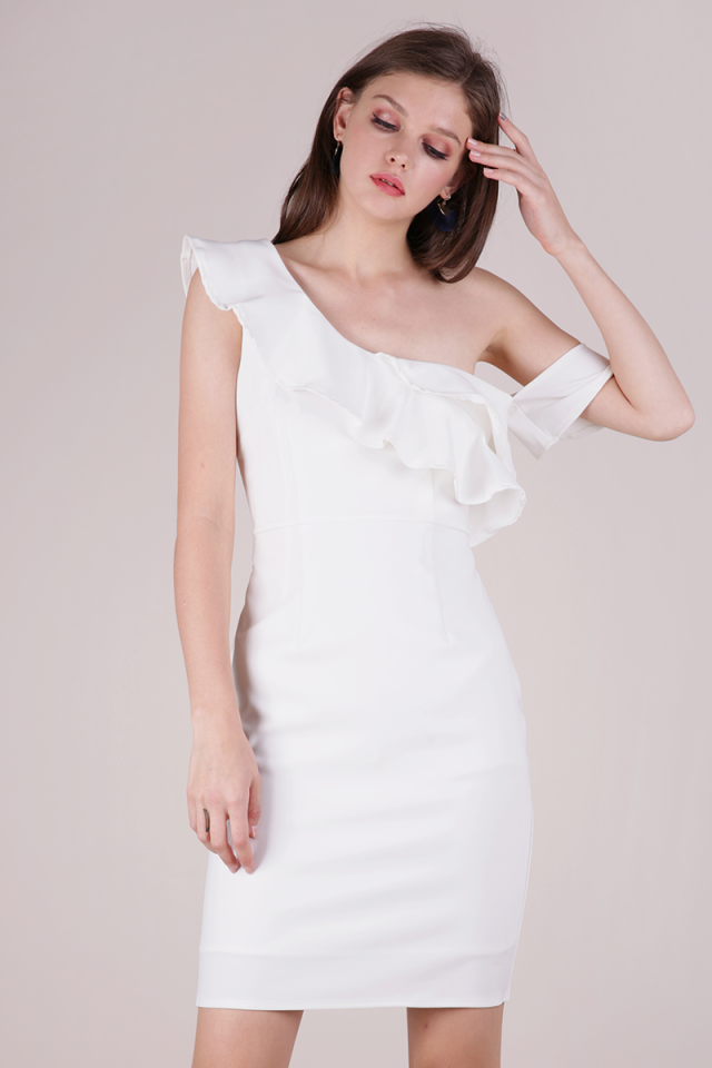 Nars Ruffles Toga Dress (White)