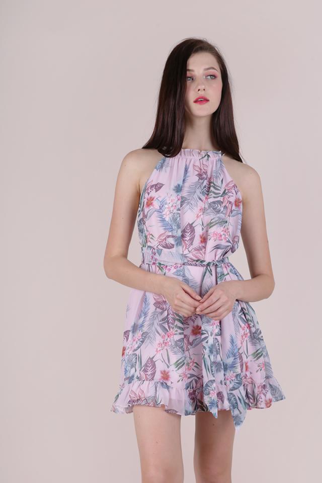 Ellery Trapeze Dress (Pink Tropical)