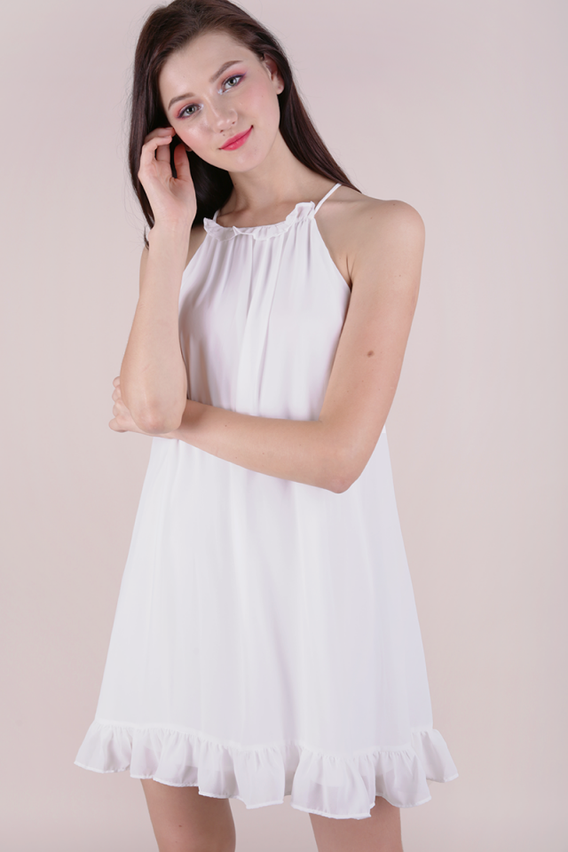 Ellery Trapeze Dress (White)