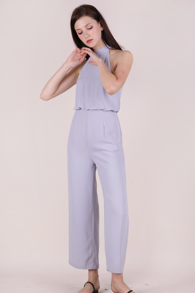 Bryleigh Halter Jumpsuit (Lilac)