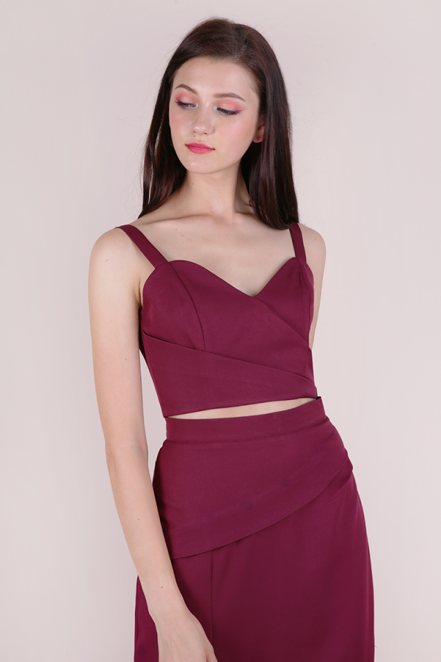 Ariana Bustier Top (Berry)