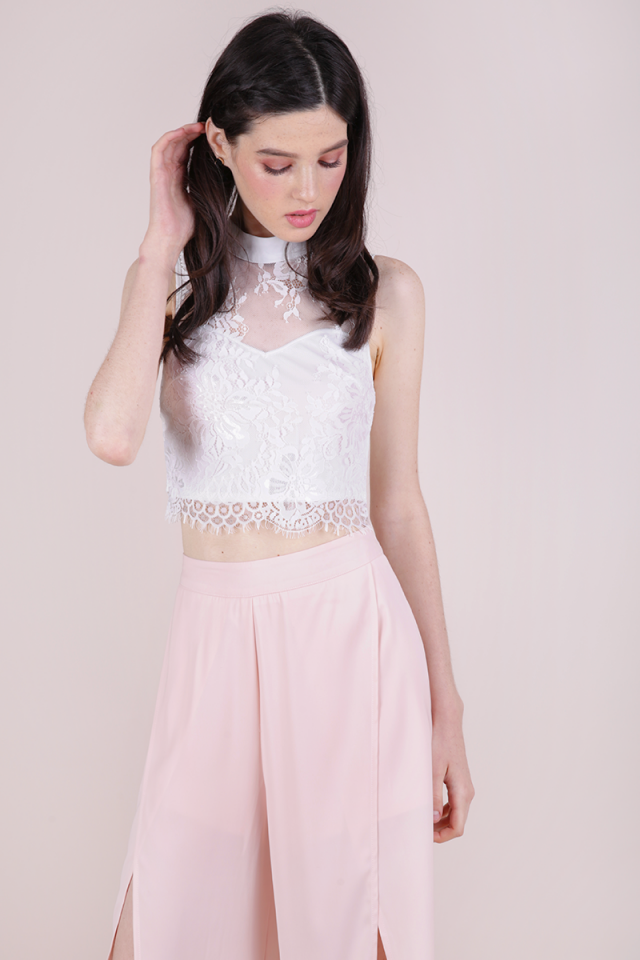 Hayla Lace Top (White)