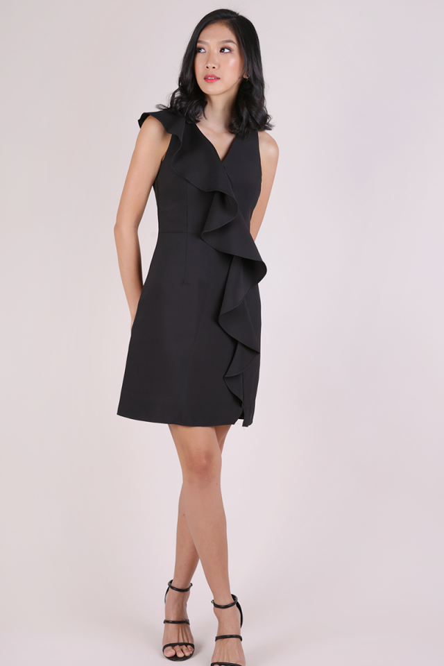 Felly Ruffles Dress (Black)