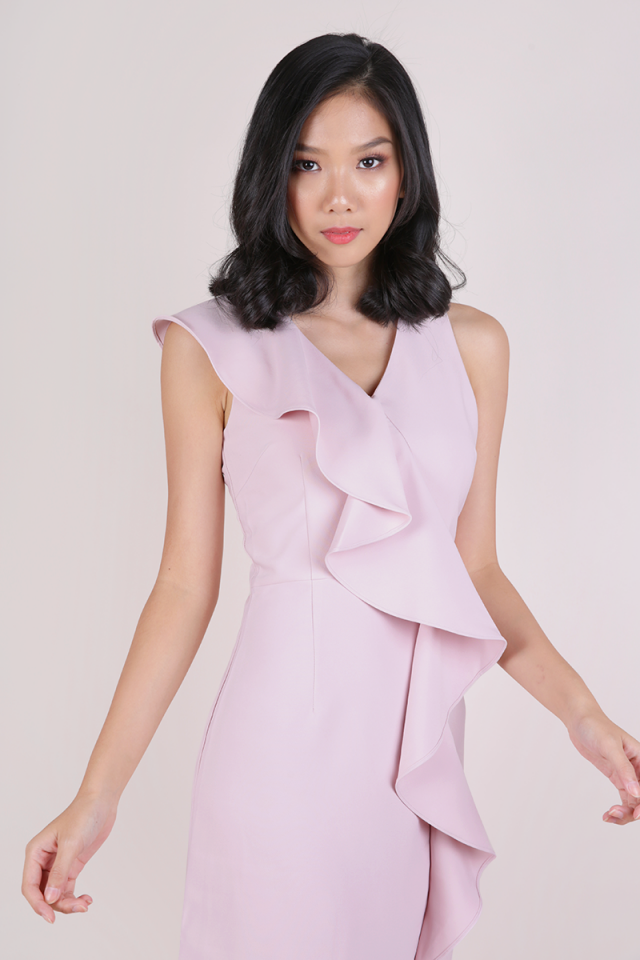 Felly Ruffles Dress (Petal Pink)