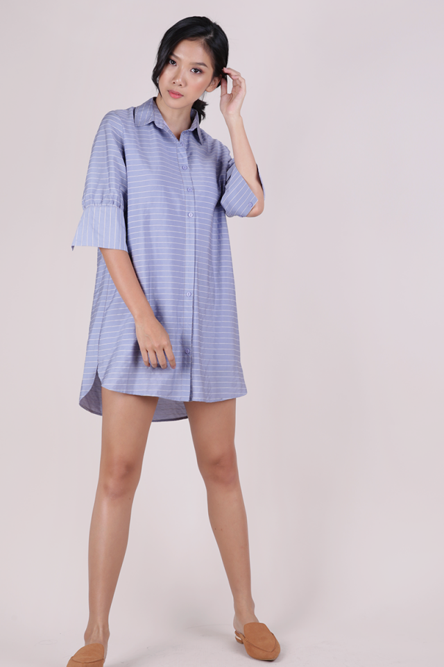 Gillman Shirt Dress (Light Blue Stripes)