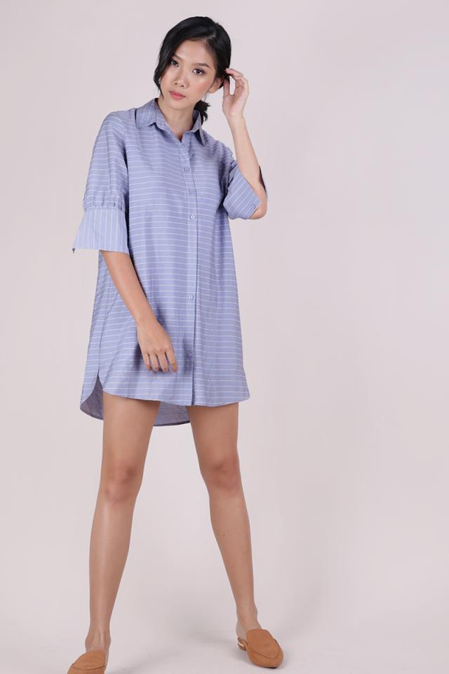Gillman Shirt Dress (Light Blue Stripes)