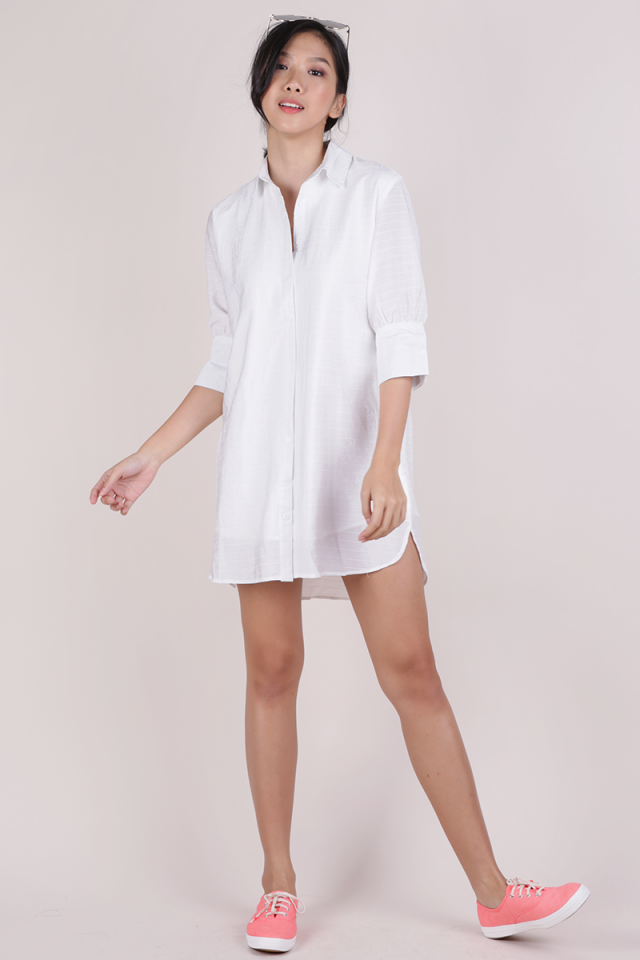 Gillman Shirt Dress (White)