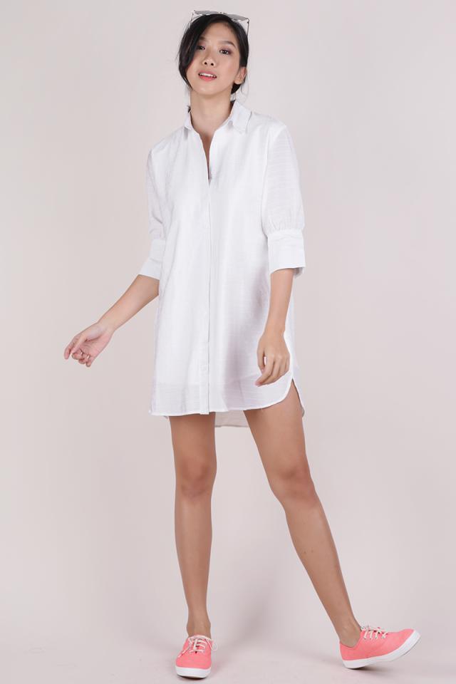 Gillman Shirt Dress (White)
