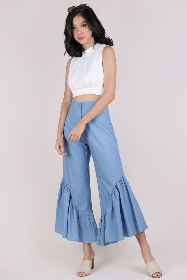 Moda Flare Pants (Light Blue)