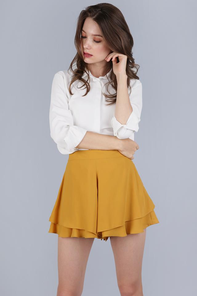Cassidy Ruffles Shorts (Mustard)