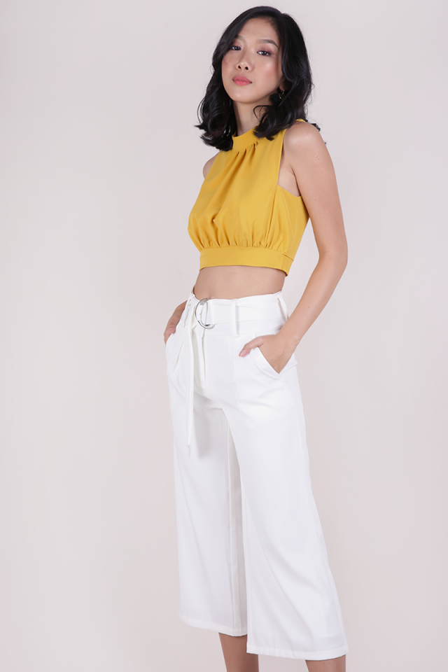 Sophie Cropped Top (Canary Yellow)
